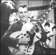 Carl Perkins was greatly admired by all the Beatles, especially George Harrison, who loved the rockabilly performer's guitar style.